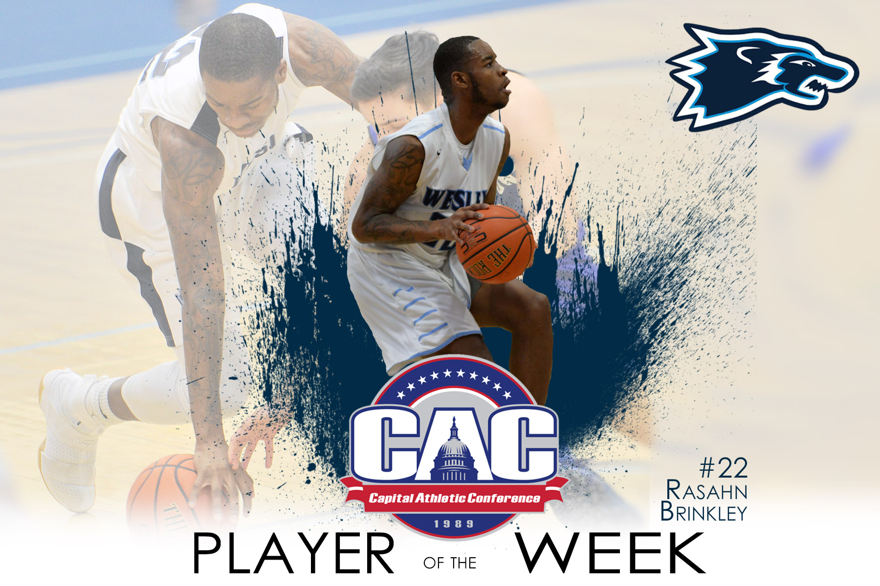 Brinkley Named CAC Player of the Week