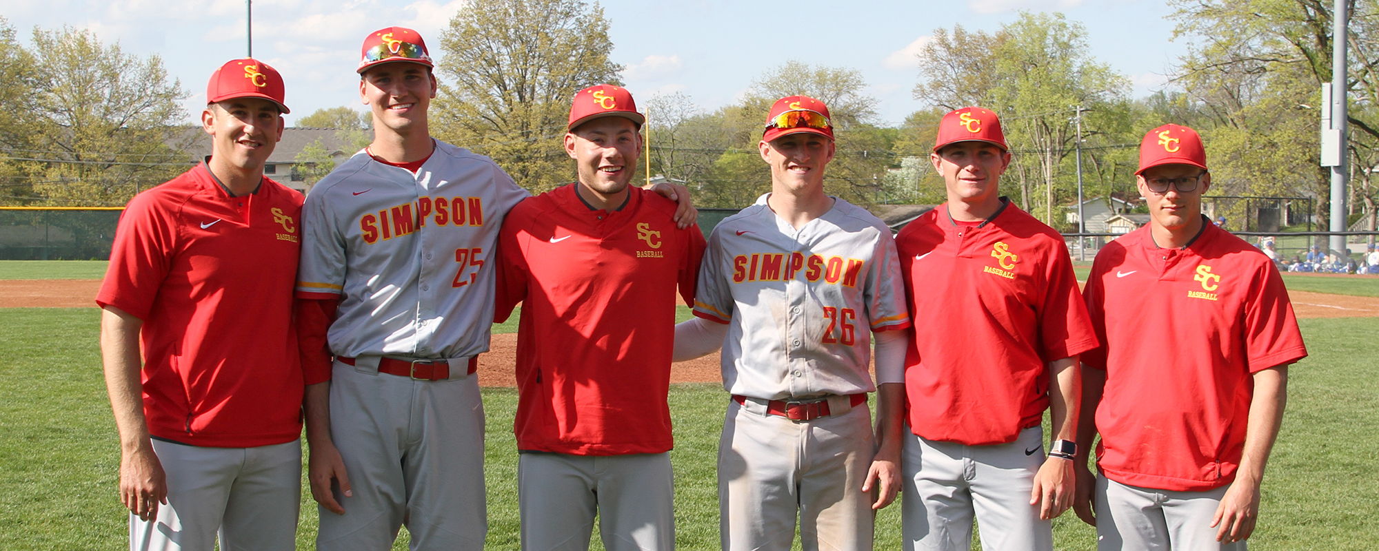 L-R: Head coach Nathan Roling, Devon Veach, Steve Carlson, Nathan Carlin, assistant coaches Ethan Westphal and Trent Dooley