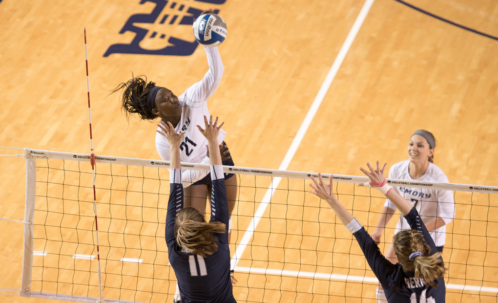 Emory Volleyball Drops Four-Set Decision At Berry