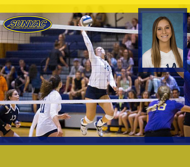 Cergol repeats as SUNYAC Volleyball Athlete of the Week