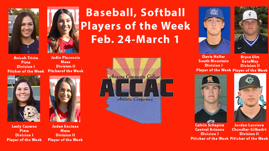 Baseball, softball Players of the Week