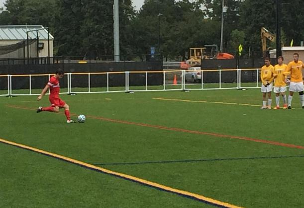 Men's Soccer Fights Through Wind and Rain In Loss to Lions