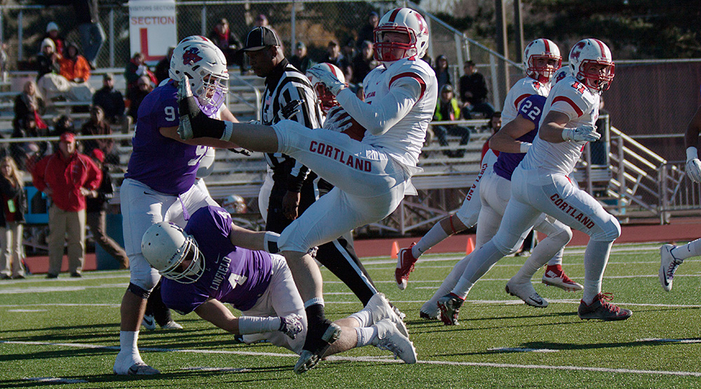 Cortland's season ended at Linfield in 2015