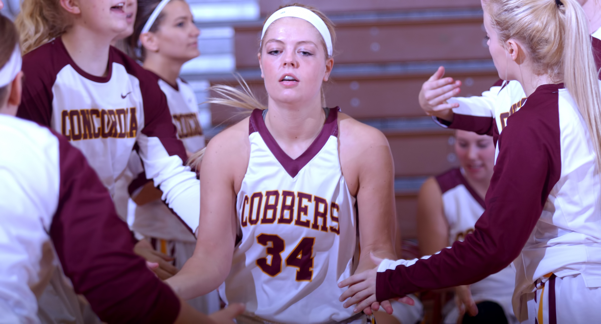 Junior Grace Wolhowe scored a career-high 23 points in the Cobbers' year-ending game at St. Scholastica.