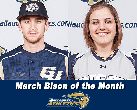 William Bissell and Rachel Sweigart named March Bison of the Month
