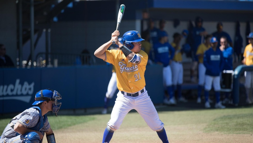 Eric Yang went 3-for-4 with two runs and two RBIs in a 13-4 rout over LMU on Tuesday afternoon. (Photo by Eric Isaacs)