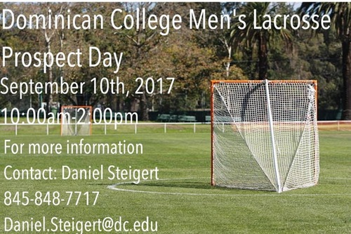 MEN'S LACROSSE TO HOLD PROSPECT CAMP