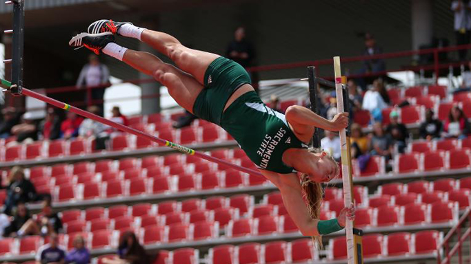 BRANDON SETS SCHOOL RECORD IN POLE VAULT AT NCAA WEST PRELIMINARY