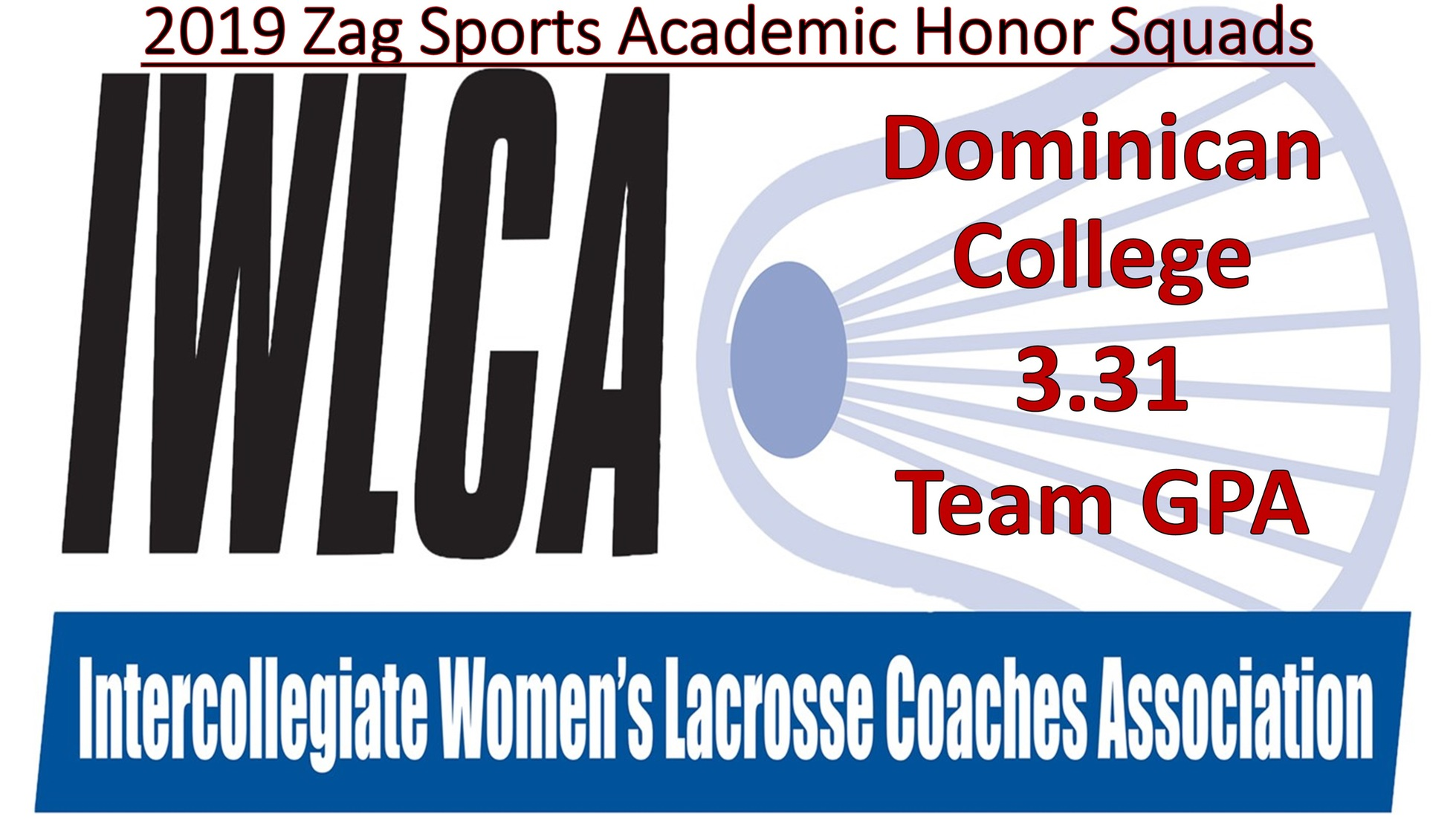 WOMEN'S LACROSSE NAMED TO 2019 ZAG SPORTS ACADEMIC HONOR SQUADS