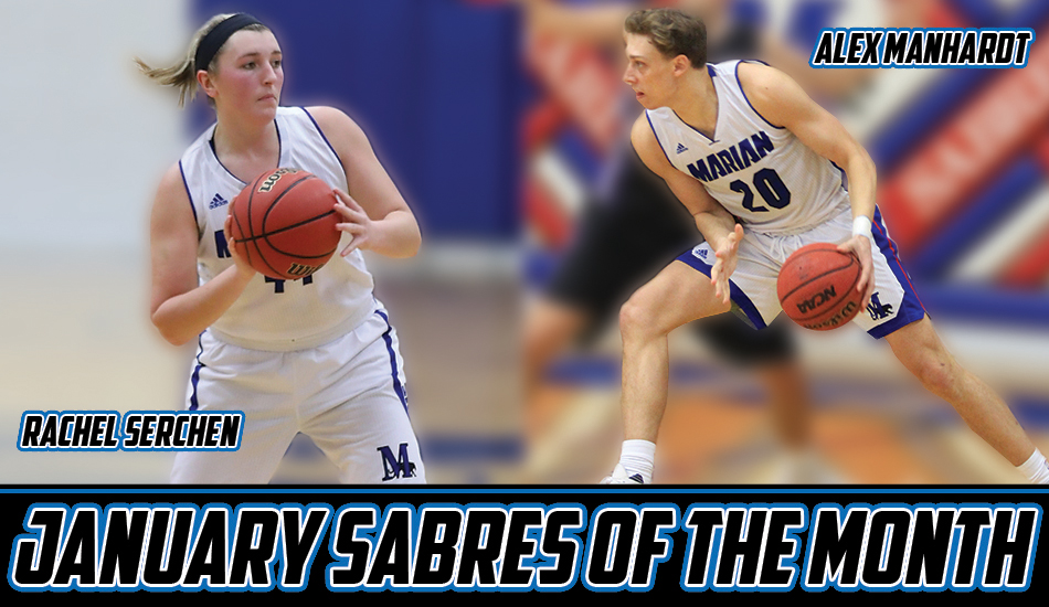 Marian basketball sweeps January Sabres of the Month