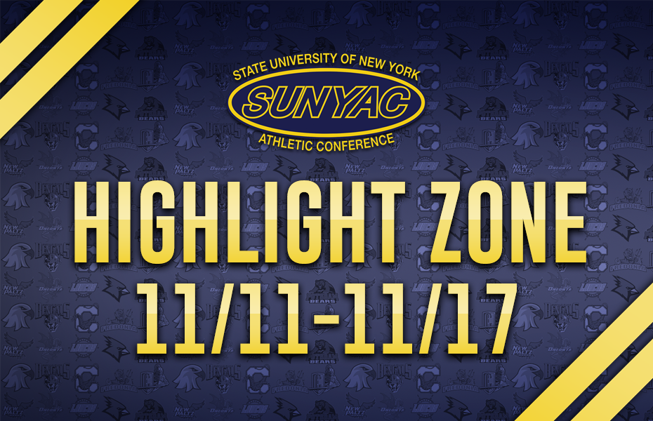 SUNYAC Highlight Zone - Nov. 11-17