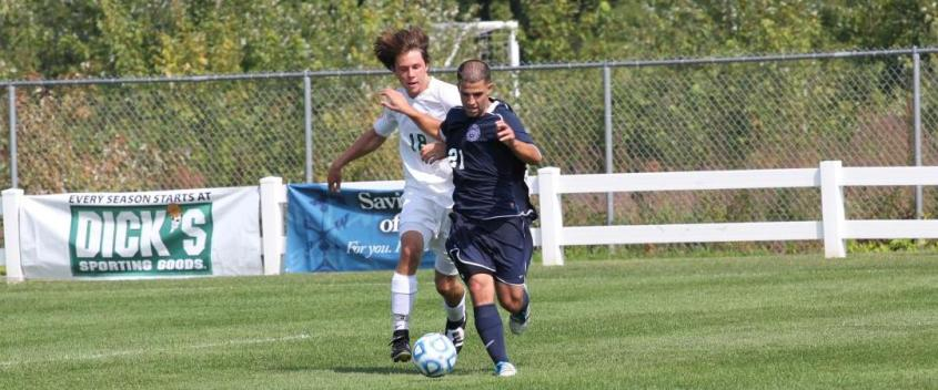 Keuchkarian, Terris lead men's soccer to 5-0 rout of Fitchburg State in opener