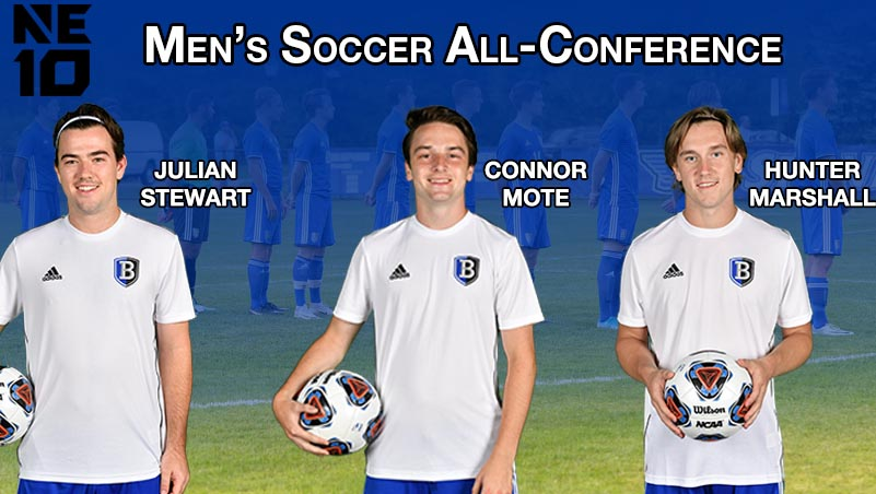 Stewart, Mote and Marshall Named to NE10 All-Conference Teams