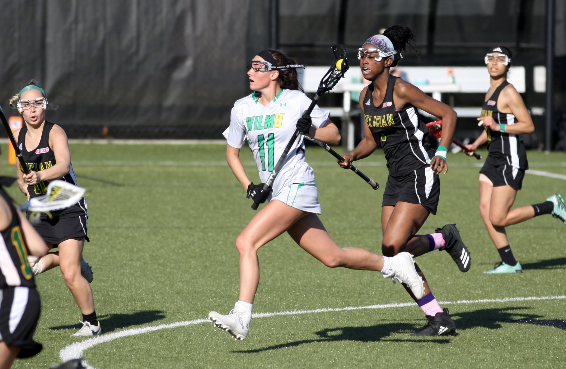 Copyright 2019; Wilmington University. All rights reserved. Photo of Delaney Steele who led the Wildcats with 4 goals and six assists for 10 points against Felician. Photo by Katlynne Tubo. April 3, 2019 vs. Felician