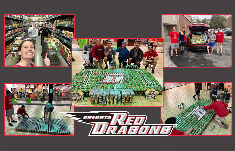 Oneonta Athletics Department participates in CANstruction