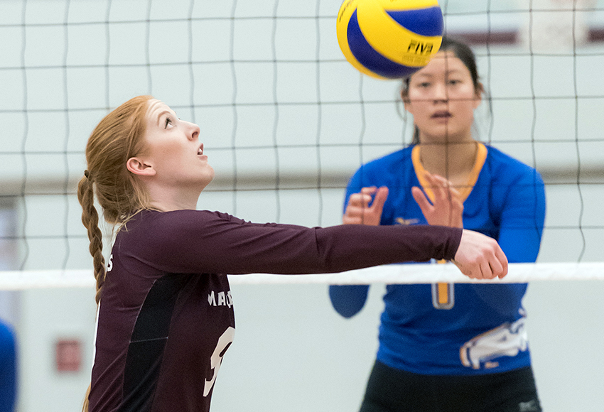 Karly Edgar and the rest of the Griffins will test themselves against top volleyball competition this week during the Griffins/Pandas Invitational, including defending national champion UBC (Chris Piggott photo).