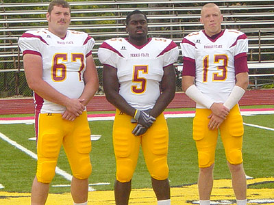 Seniors Brad Bammert (#67), Nick Butler (#5), Kyle Parrish (#13) and Chad Wilson (not shown) have been elected FSU's captains for 2009