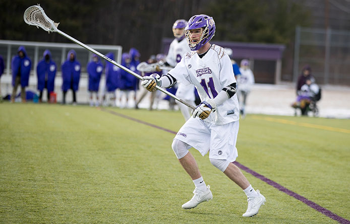 Men's lacrosse falls in Northeast-10 Conference opener at No. 7 Pace