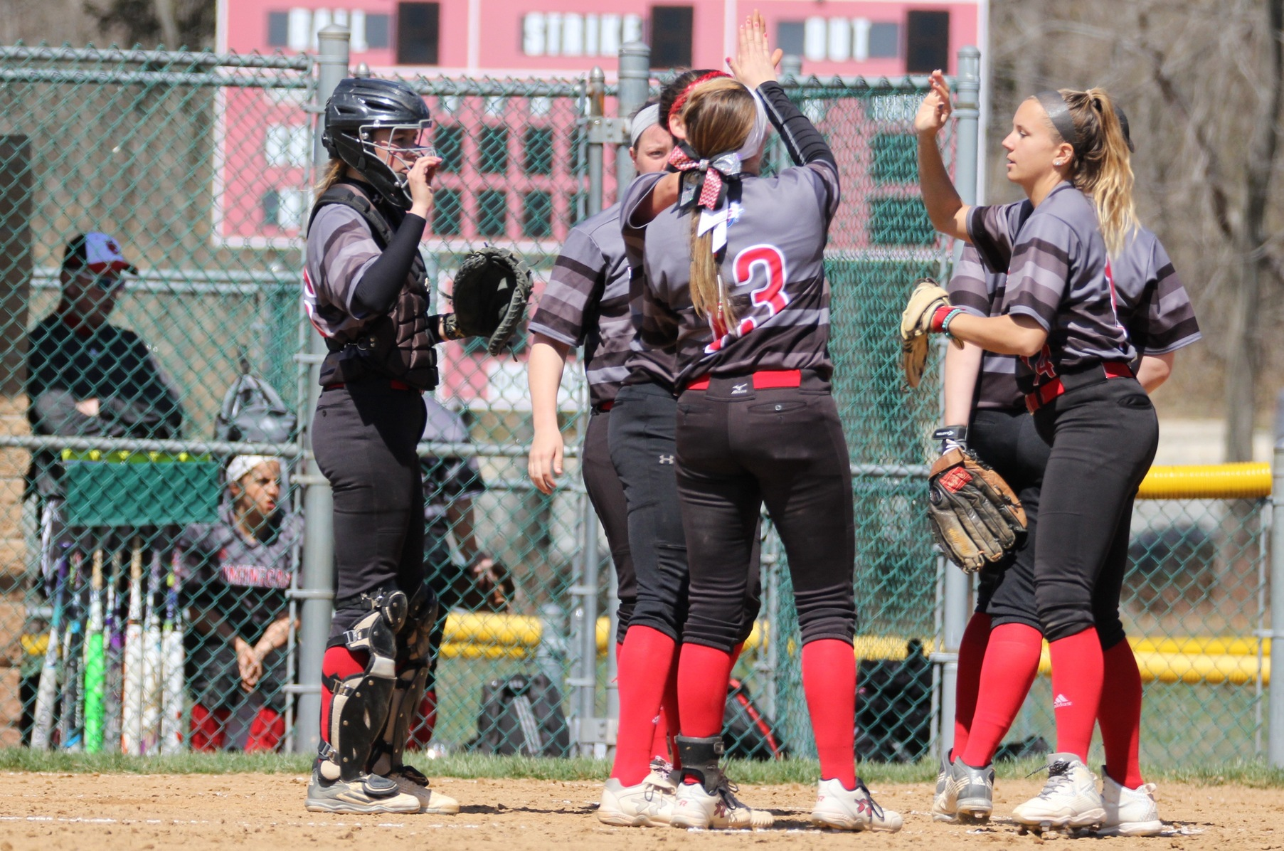 SOFTBALL SPLITS WITH PACE UNIVERSITY