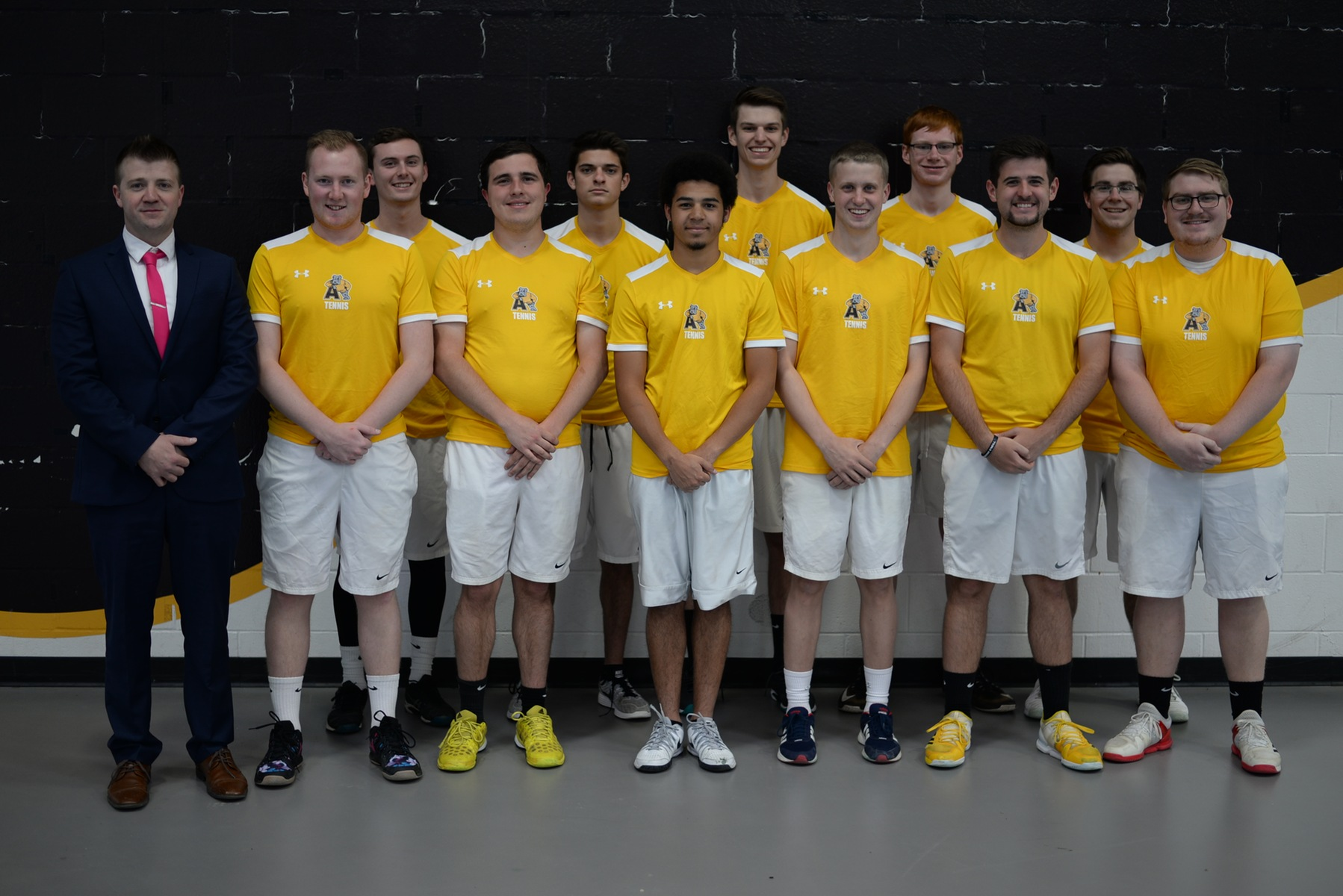 The 2017-18 Adrian College men's tennis team. (Photo by Patrick Stewart)