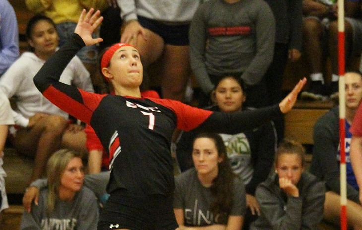 Courtney McCarthy Tabbed NECC Women's Volleyball Player of the Week