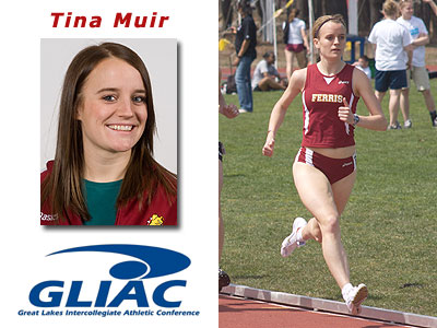 Tina Muir Claims GLIAC Weekly Award