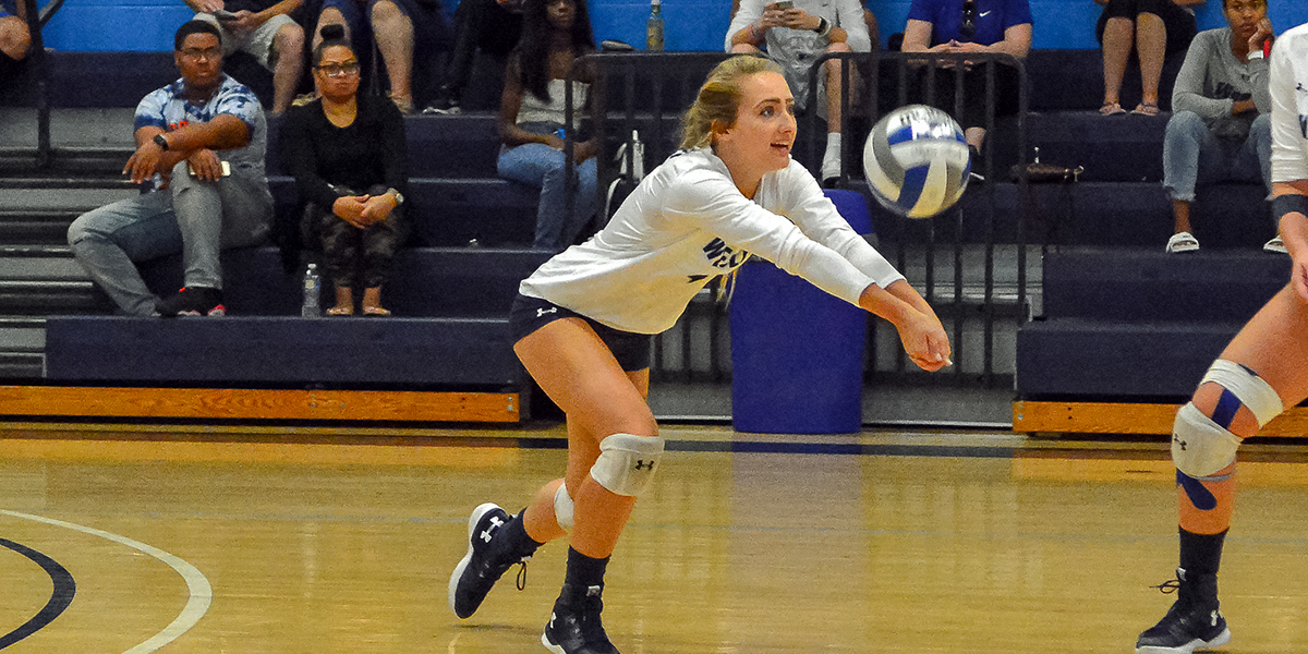 Volleyball splits tri-match with Cairn, Hood