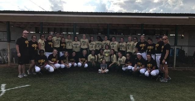 Lady Gators Strikeout Cancer