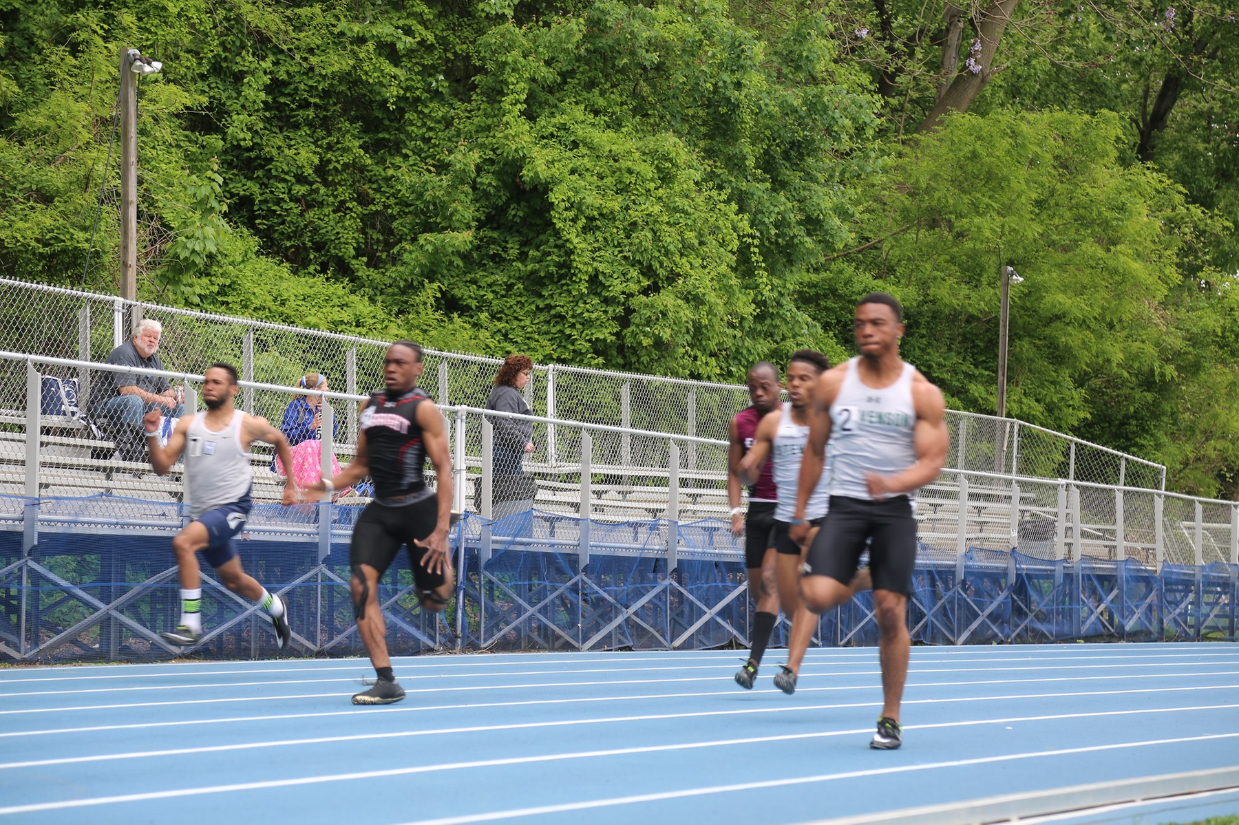 Belser Wins 100, Mustang 4x100 Sets School Record at AARTFC Championship
