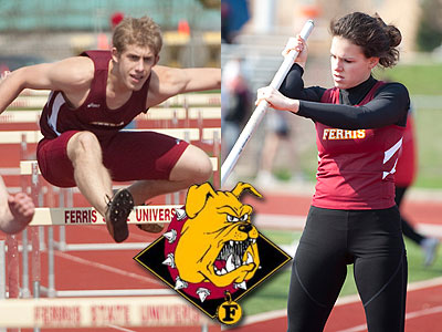 FSU's Kyle Walch (left) and Jessica Schewe (right) both competed in the Northwood Invitational (FSU Photo Services)