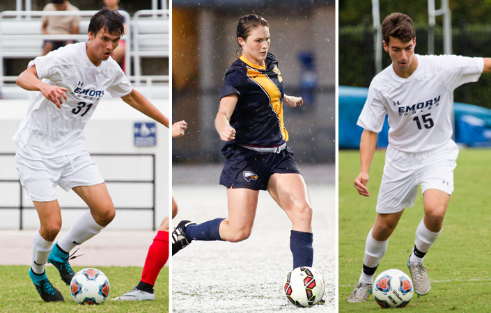 Emory Soccer Trio Named to CoSIDA Academic All-District Teams