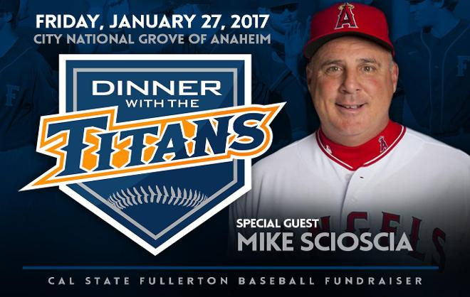 Mike Scioscia to Headline Dinner with the Titans