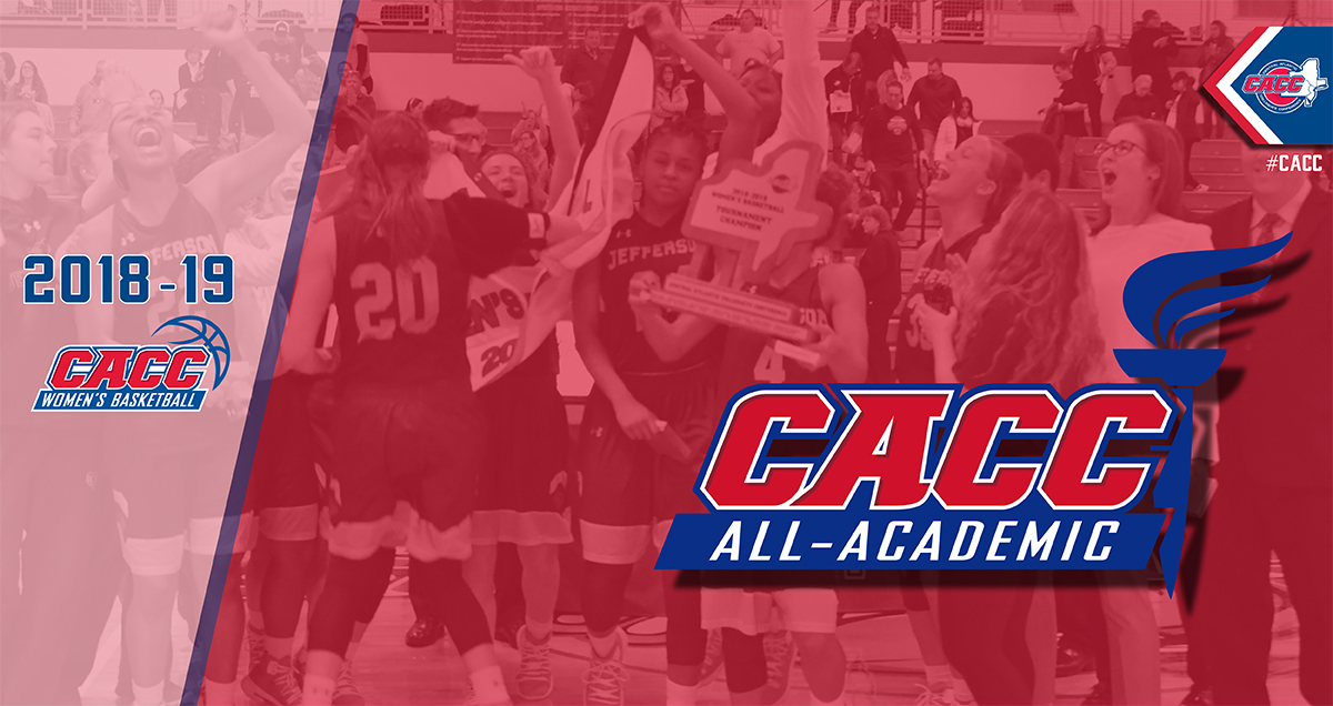 THIRTY-EIGHT STUDENT-ATHLETES NAMED TO 2018-19 CACC WOMEN'S BASKETBALL ALL-ACADEMIC TEAM
