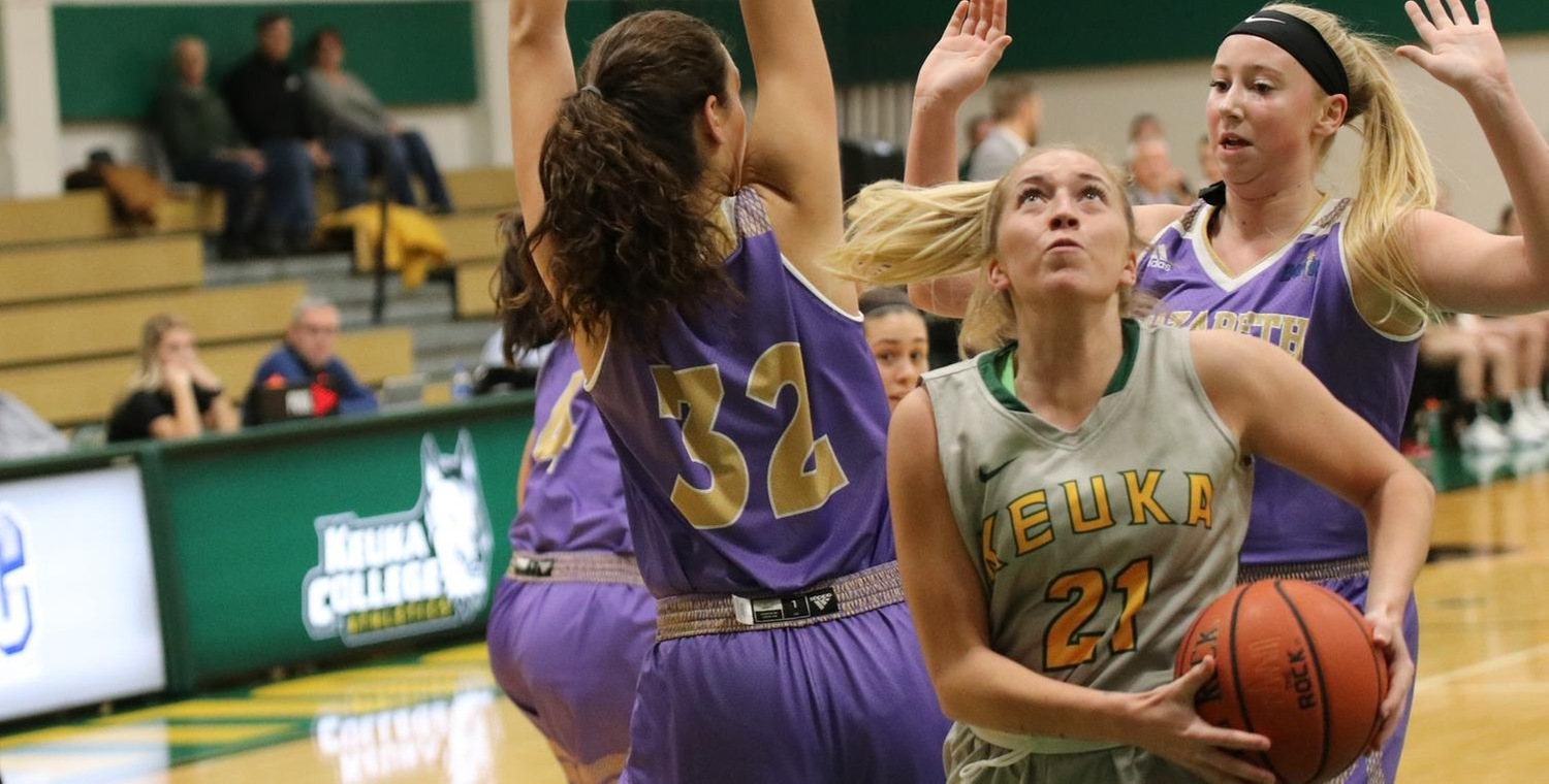 Sam Laranjo (21) scored a career-high 20 points for Keuka College on Thursday -- Photo by Rohel Duncan
