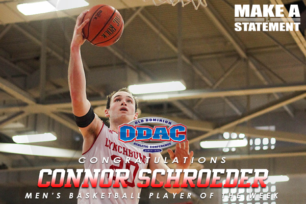 ODAC Player of the Week: Connor Schroeder (2/6-2/13)