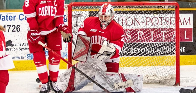 Browning has 35 saves as Cornell ties St. Lawrence
