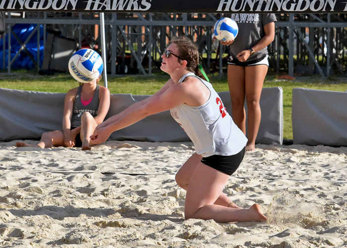 Hawks earn first beach volleyball win of the season