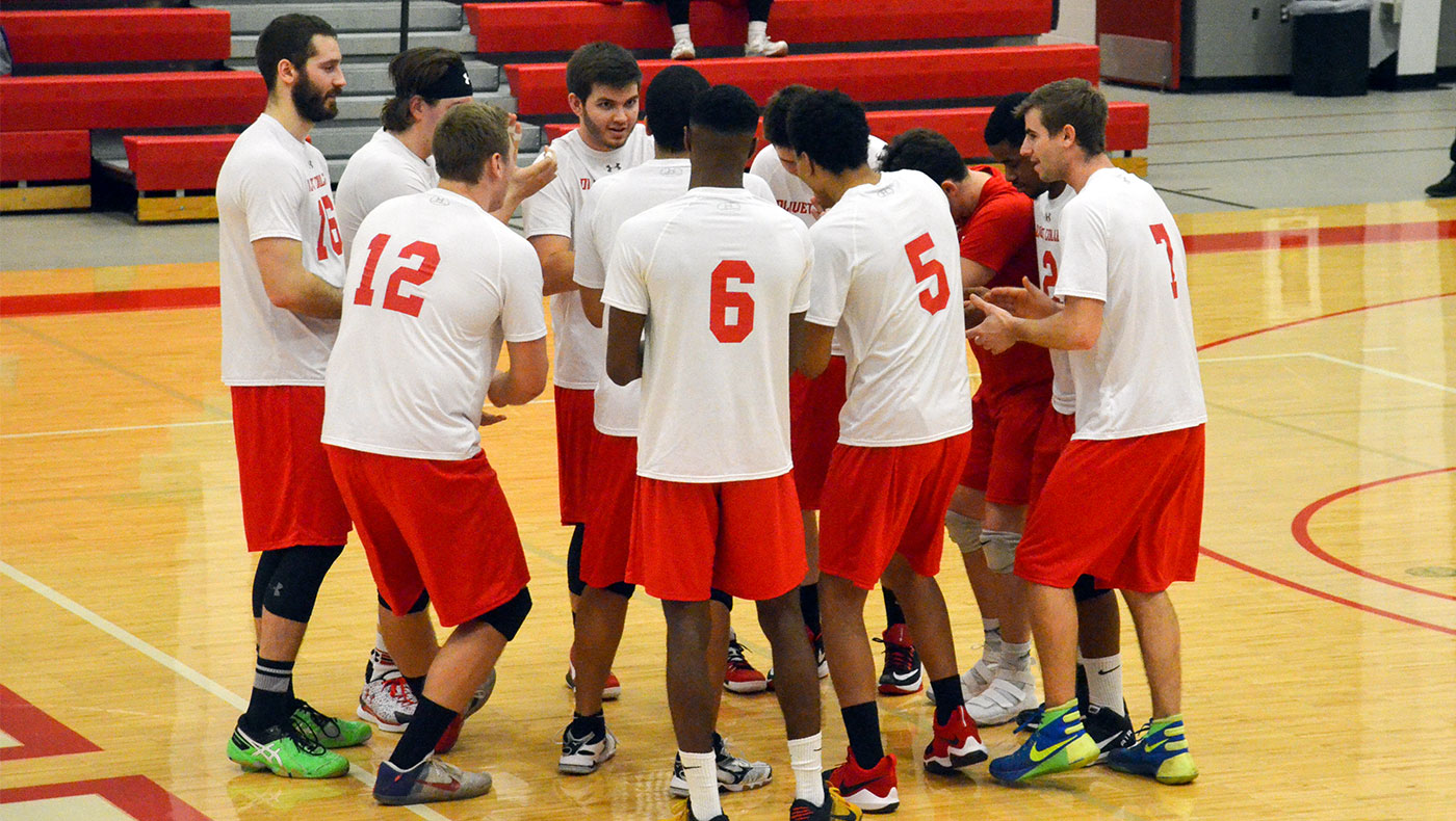 Men's volleyball team loses close four-set match to Adrian