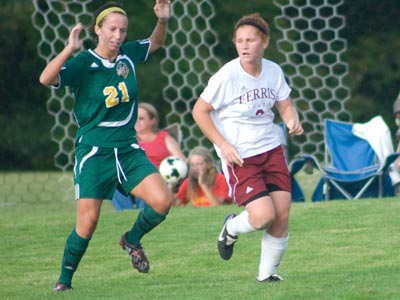 Kari Alsager and Ferris State were unable to overcome six straight Tiffin goals in Friday's match.