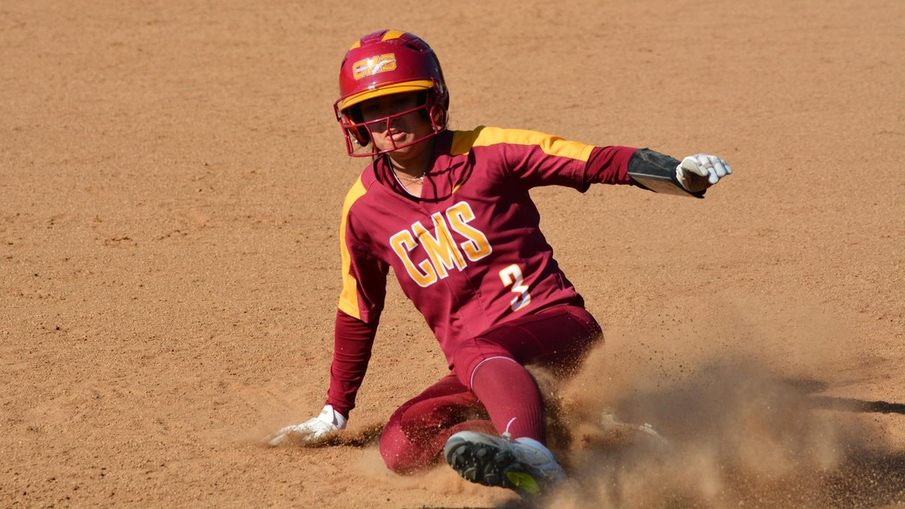 Natalie Dale sliding into third base