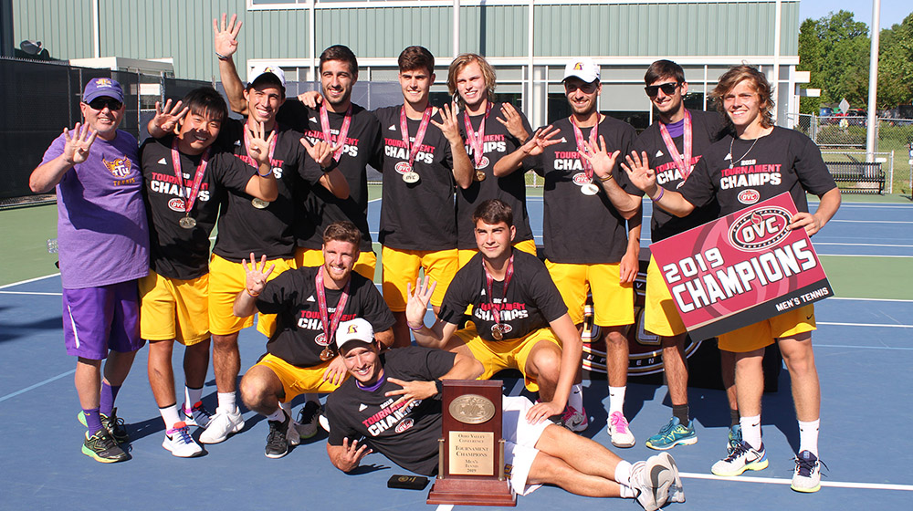 Champs again: Tech tennis earns four-peat with win over JSU in OVC Tournament final