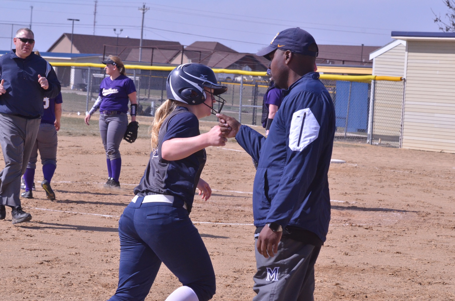 Shaena Robinson blasted her conference-leading ninth home run in game one Monday afternoon