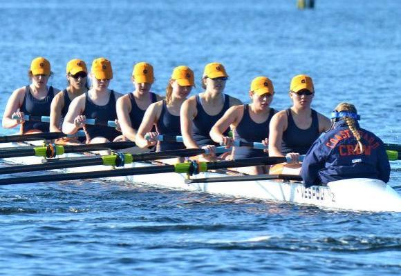 Bears Varsity 8 Easily Beats Conn. College