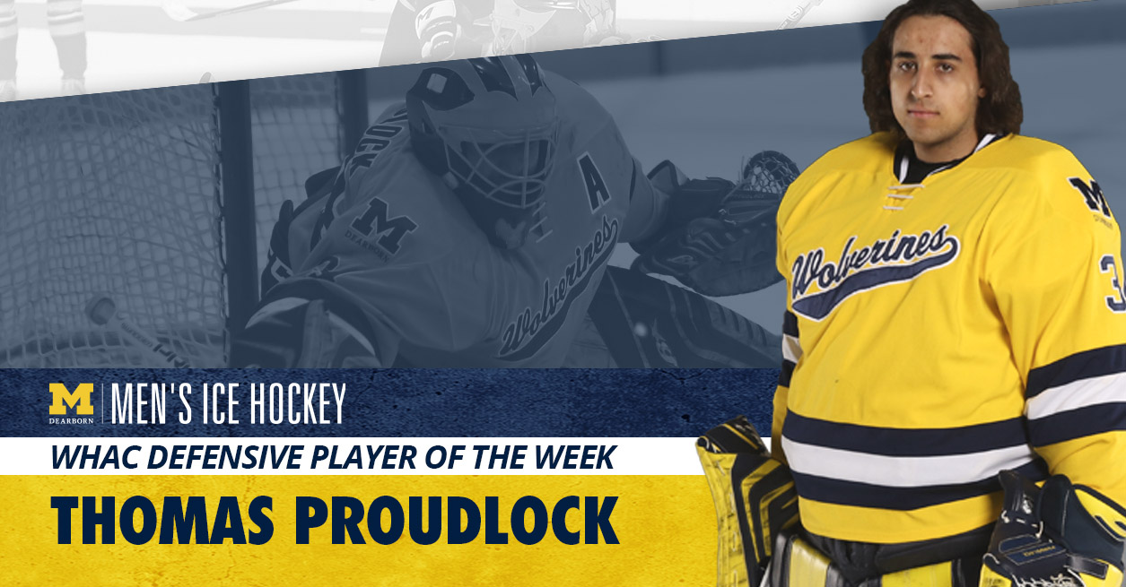 WHAC names Proudlock Defensive Player of the Week
