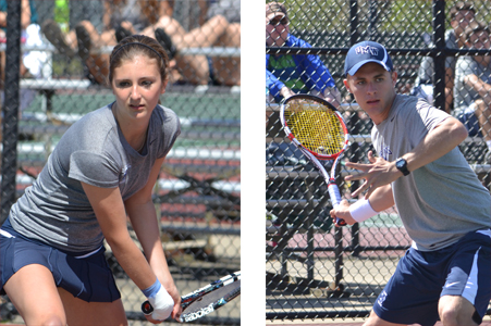 Follow UMW's Carey, Raulston in Action at NCAA Tennis Championships