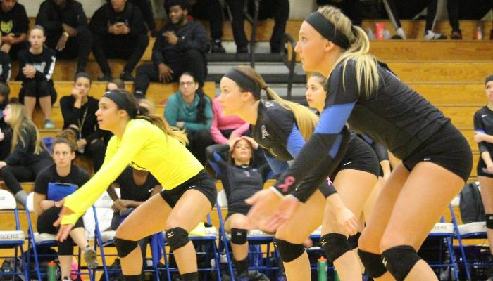 Lady Spikers Roll to Sweep of Houghton