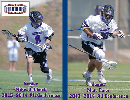 Senior Mike Deliberti (left) and junior Matt Finor repeated as all-Landmark Conference selections today.