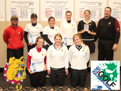 Ferris State earned third-place honors at the GLIAC Championships for the second straight year.  (Photo by Matt Yeoman)