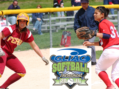 Chelsea Morris' two hits helped Ferris State to an upset victory over Saginaw Valley State in Friday's GLIAC Tournament action.  (Photo by Sandy Gholston)