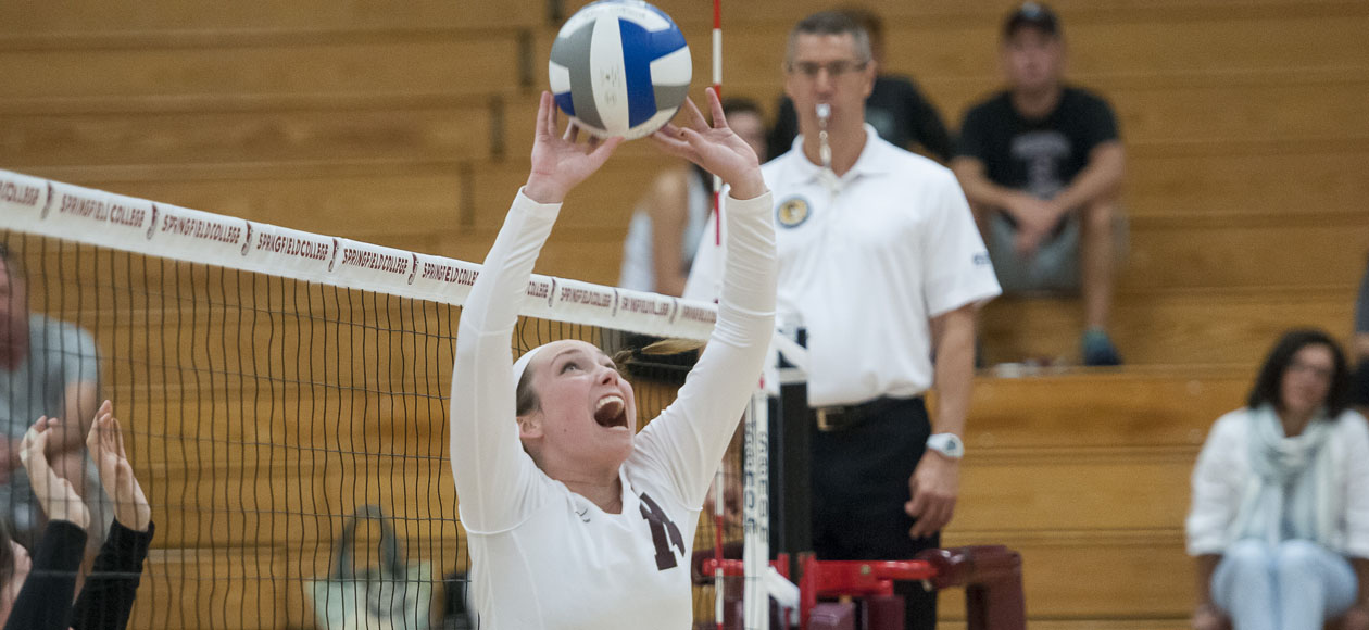 Women's Volleyball Takes Down WPI In Straight Sets